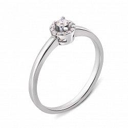 Золотое помолвочное кольцо Любимая с бриллиантом
