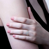 Серебряное кольцо с золотой пластиной Елена