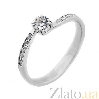 Кольцо из белого золота Эдит с бриллиантами VLA--13629