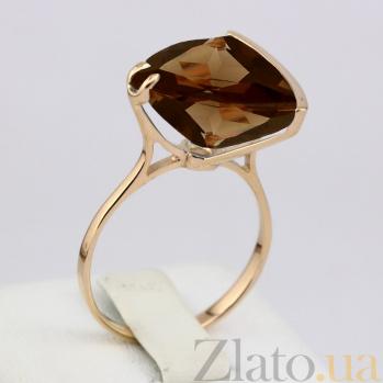 Золотое кольцо Токио с гидротермальным раухтопазом 000024481