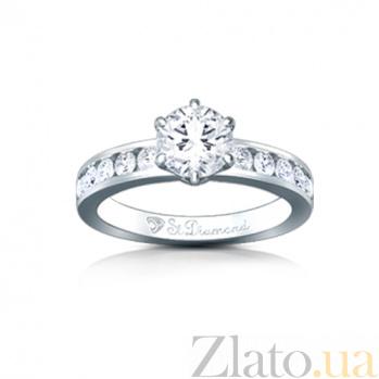 Золотое кольцо с бриллиантами Поздний сбор 000029708