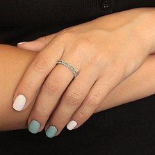 Серебряное кольцо с изумрудами Каприз