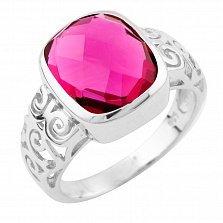 Серебряное кольцо Джорджиана с синтезированным рубином