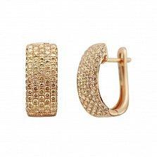 Серьги из красного золота Саммер с бриллиантами цвета шампань