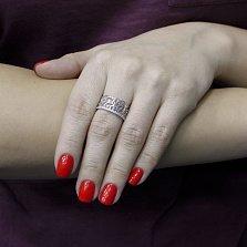 Серебряное кольцо Снежная королева с фианитами