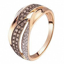 Кольцо в красном золоте Айлин с бриллиантами