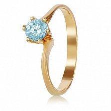 Золотое кольцо с топазом Василина