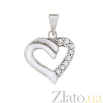 """Серебряная подвеска """"Сердце"""" AQA--S238550082"""