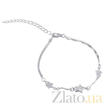 Серебряный браслет с цирконием Кассиопея 000025892
