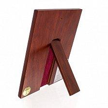 Икона Спасителя, квадратная рамка, с инкрустацией, 27х22см