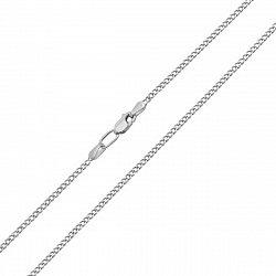 Серебряная родированная цепочка Панцирная, 1,5мм
