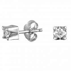 Серьги из белого золота Олимпик с бриллиантами