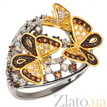 Золотое кольцо с цирконием Бриджид VLT--ТТ1138