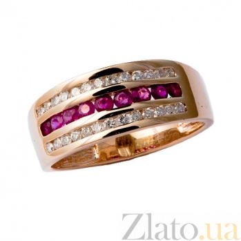 Кольцо из красного золота с рубинами и бриллиантами Биркан ZMX--RR-6130_K