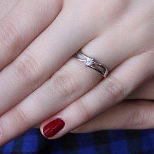 Серебряное кольцо Риола с фианитом