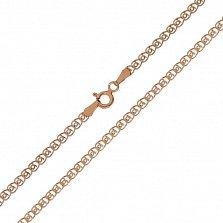 Серебряная цепь Мерло с позолотой, 2 мм