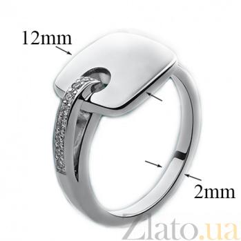 Серебряное кольцо с бриллиантами Милос   79101399
