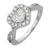 Кольцо из белого золота с бриллиантами Шерилин