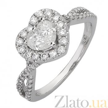 Кольцо из белого золота с бриллиантами Шерилин R-03332