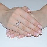 Золотое кольцо Касильда с белыми фианитами