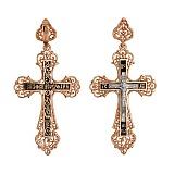Золотой крест с ювелирной эмалью Моя душа