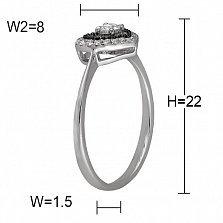 Кольцо Пенелопа из белого золота с бриллиантами