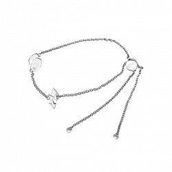 Серебряный браслет Молния и облака с фианитом 000093651