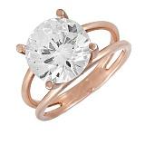 Золотое кольцо с фианитом Талиша