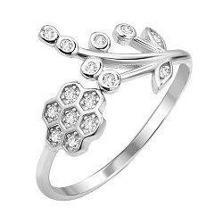 Серебряное кольцо с фианитами 000112713