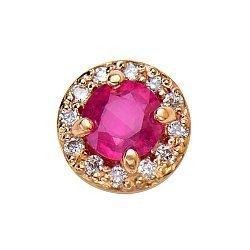 Кулон из красного золота с рубином и бриллиантами 000130811