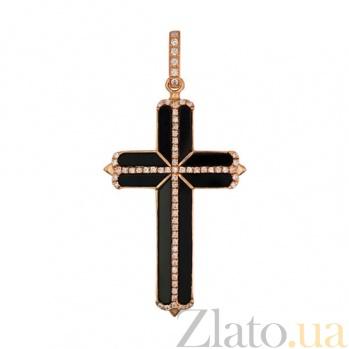 Крест из красного золота Закон Божий VLT--ТТ3386-2