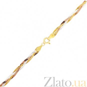 Серебряный браслет с позолотой Аурика 000026096