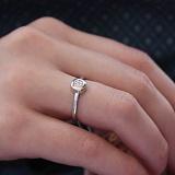 Золотое кольцо Мистис в белом цвете с фианитами