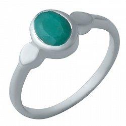 Серебряное кольцо с изумрудом 000074496