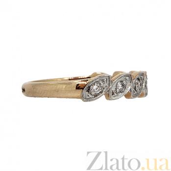 Золотое кольцо в красном цвете с бриллиантами Тришна 000021507