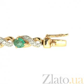 Золотой браслет с бриллиантами и изумрудами Милана ZMX--BCE-6279_K
