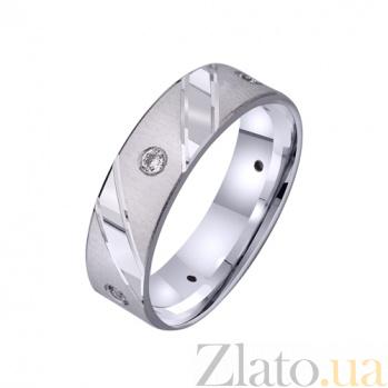 Золотое обручальное кольцо Истинная любовь с цирконием TRF--422251