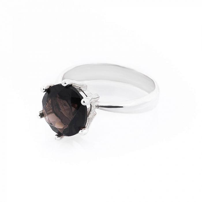 Серебряное кольцо Роберта с раухтопазом 000080140