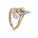 Золотое кольцо с цирконием Дарина