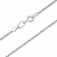 Серебряная цепочка Колосок в плетении косичка
