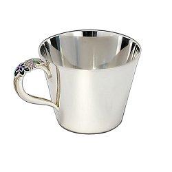 Серебряная чашка Флорена с эмалью 000043505