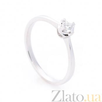 Кольцо из белого золота Фьюрелла с бриллиантом 000096453