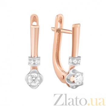 Золотые серьги с бриллиантами Аглая KBL--С2621/комб/брил