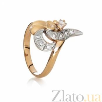 Золотое кольцо с цирконием Дарина 000030601