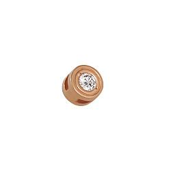 Золотой кулон Ювелирный минимализм с белым цирконием