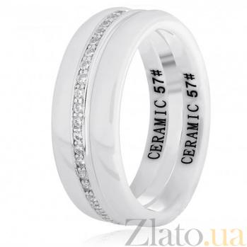 Керамическое кольцо Ронолда с серебром и цирконием 000030962