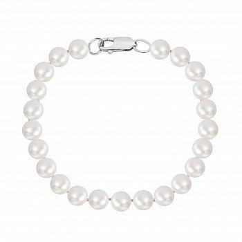 Браслет зі срібла і перлів 000148116