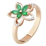 Золотое кольцо с изумрудами Миранда