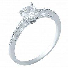 Серебряное кольцо Лейла с фианитами