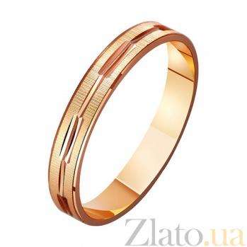 Золотое обручальное кольцо Сила любви TRF--411076